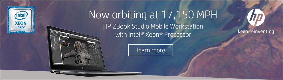 NASA and HP ZBook Banner