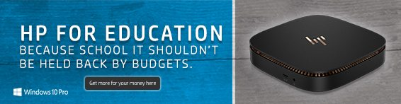HPfor Education Windows 10 Pro Banner