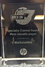 Photo of Systemactive's International HP Speciality Award for Workstations