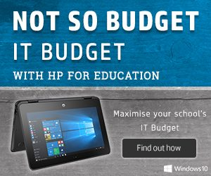 HP windows 10 education banner