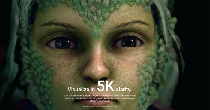 HTC VIVE 5K Clarity Image