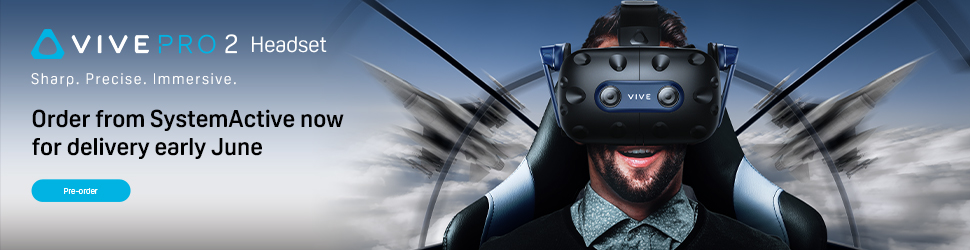 SystemActive HTC Vive Pro 2 pre-order banner